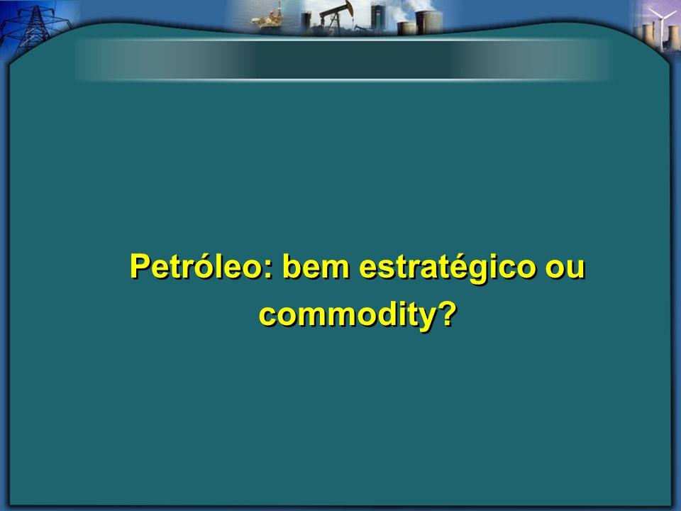 Petróleo: bem estratégico ou commodity?