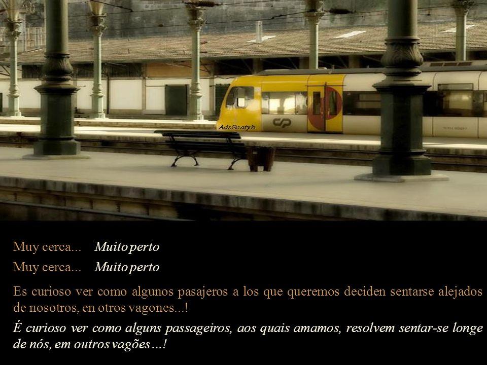 En el tren, también viajaran personas que andarán de vagón en vagón para ayudar a quien lo necesite. No trem também viajarão pessoas que andarão de va