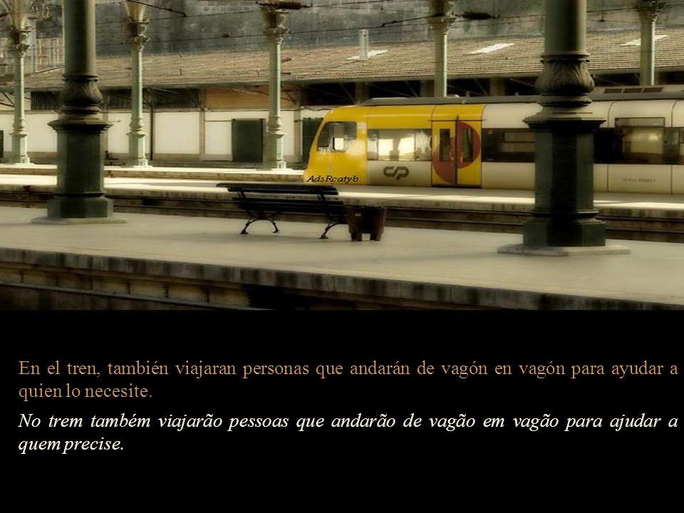 Mi emoción aumenta a medida que el tren va parando… Minha emoção aumenta à medida que o trem vai parando.