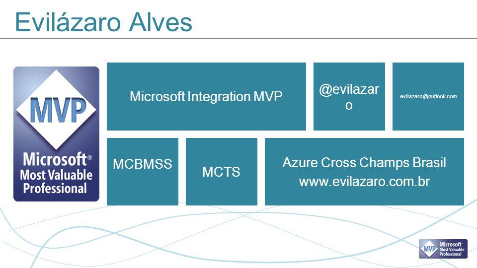 Evilázaro Alves Microsoft Integration MVP Azure Cross Champs Brasil www.evilazaro.com.br @evilazar o evilazaro@outlook.com MCBMSS MCTS