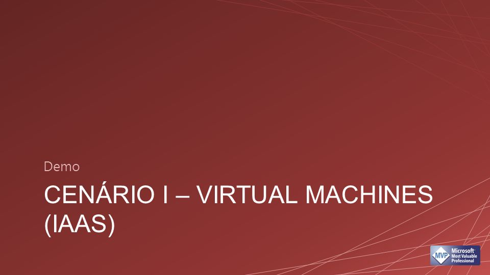 CENÁRIO I – VIRTUAL MACHINES (IAAS) Demo