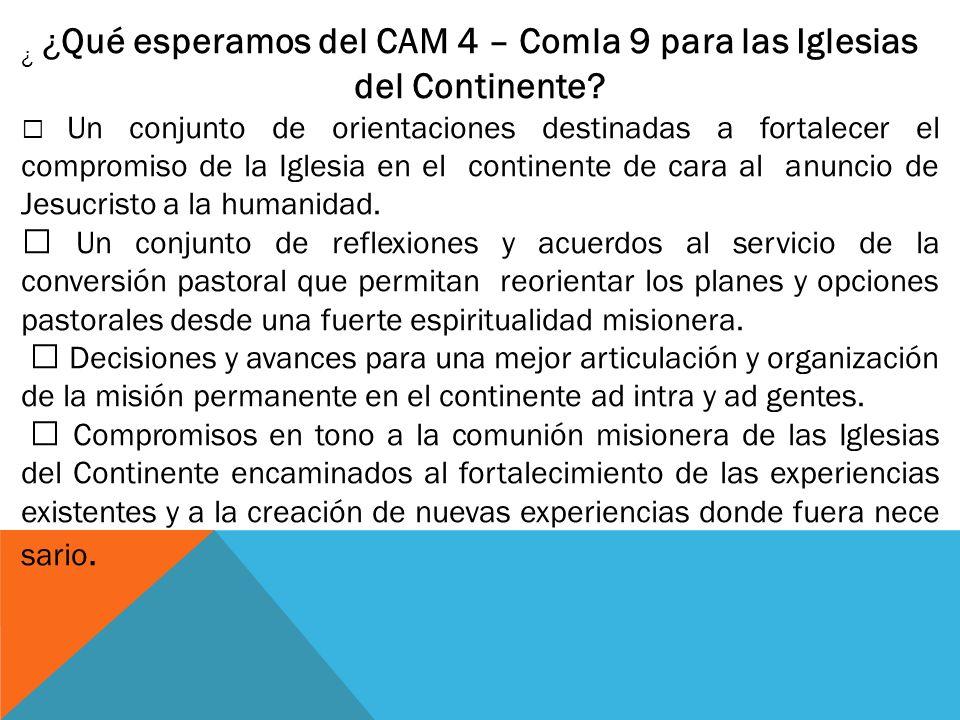 ¿ ¿Qué esperamos del CAM 4 – Comla 9 para las Iglesias del Continente.