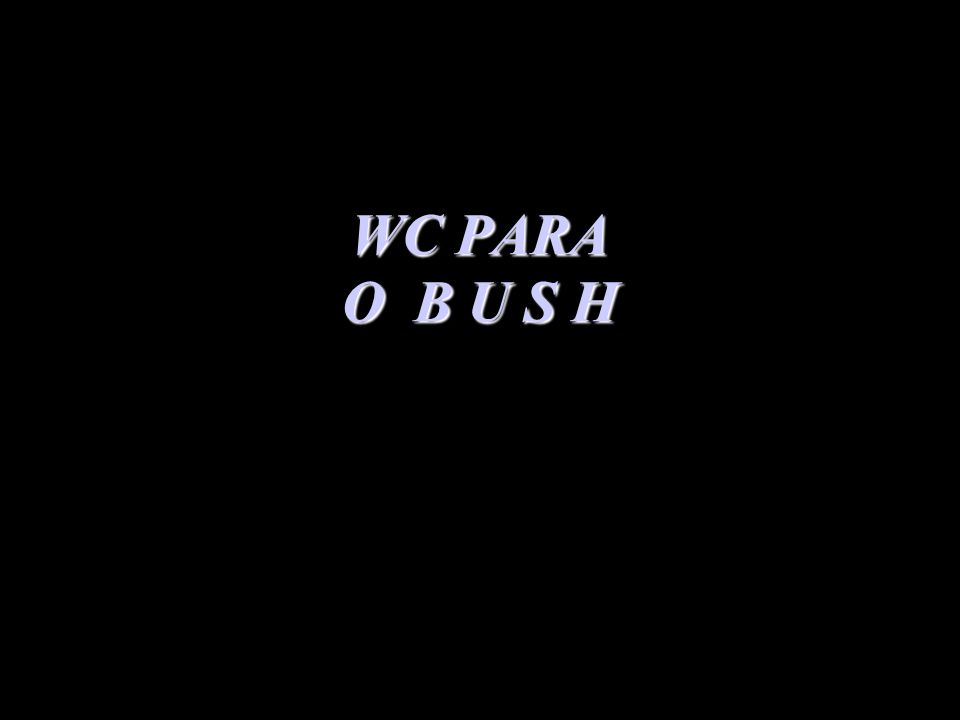 WC PARA O B U S H