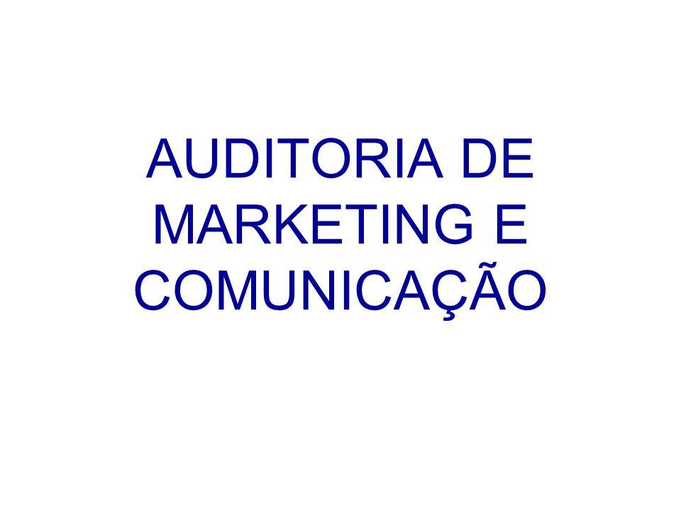 Plano de Auditoria (1) 1.Enunciação do problema de marketing e comunicação em causa.