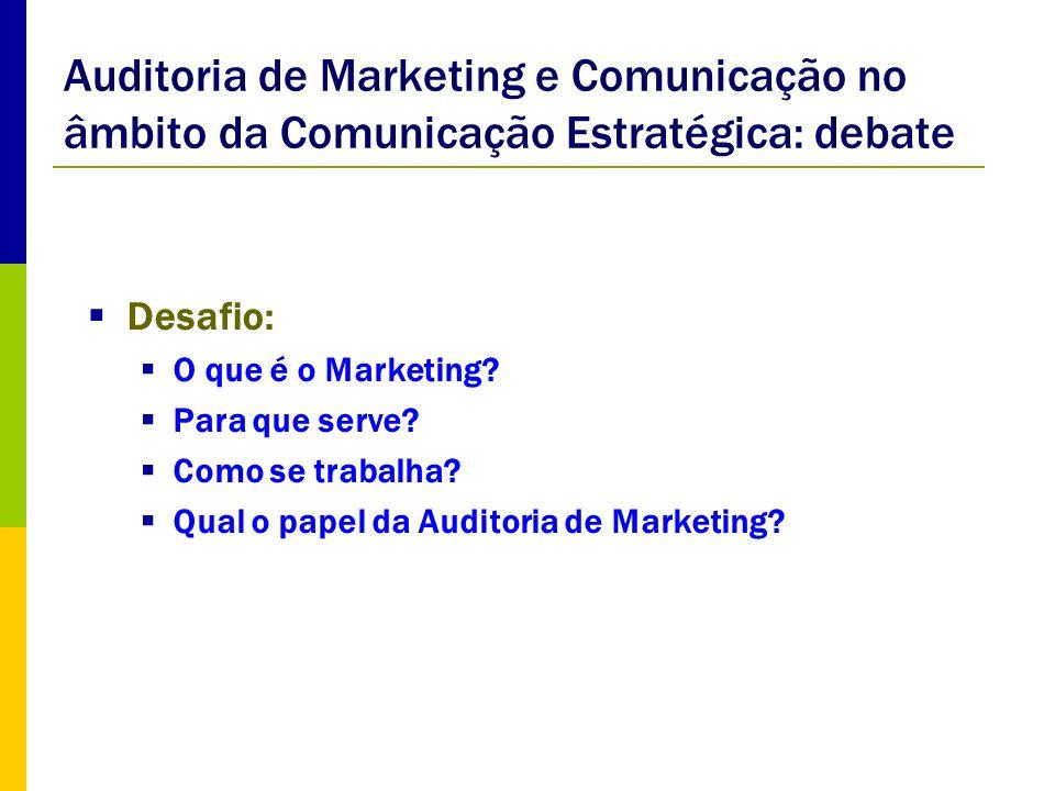 Auditoria de Marketing e Comunicação