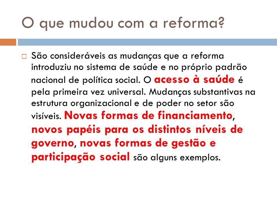 O que mudou com a reforma.