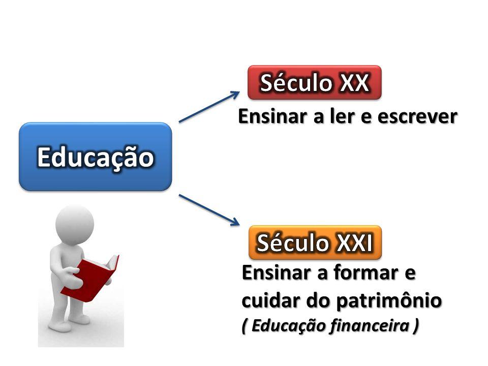 Ensinar a ler e escrever Ensinar a formar e cuidar do patrimônio ( Educação financeira )