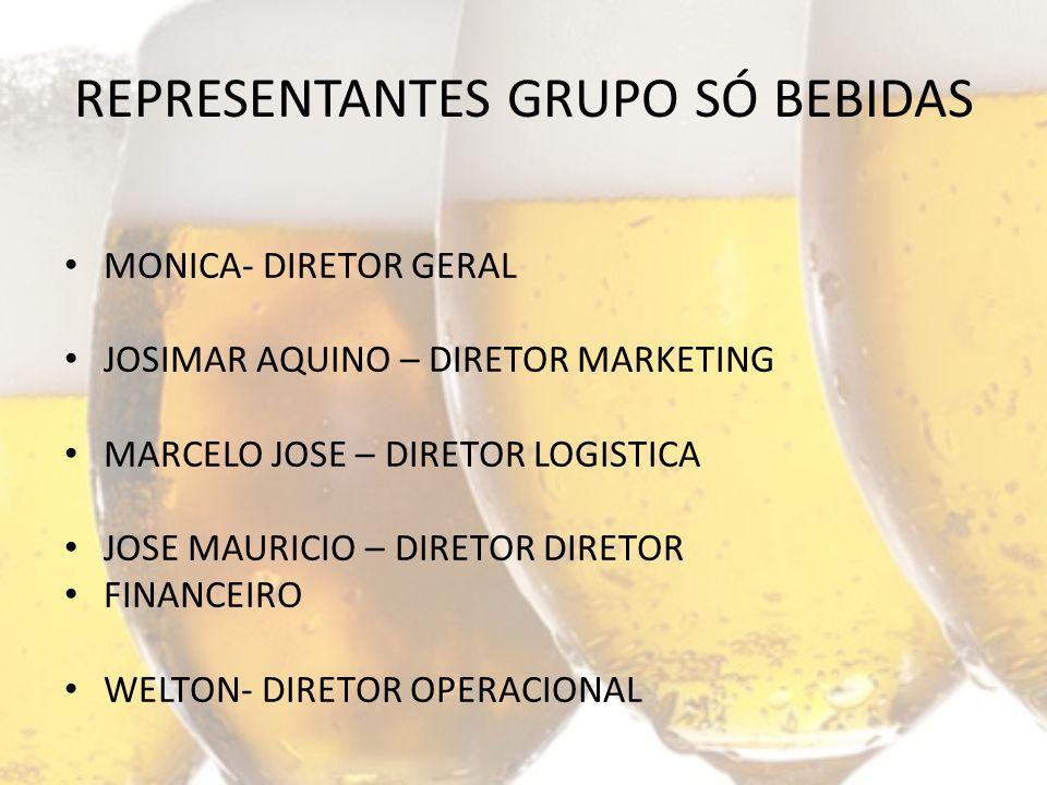 MONICA- DIRETOR GERAL JOSIMAR AQUINO – DIRETOR MARKETING MARCELO JOSE – DIRETOR LOGISTICA JOSE MAURICIO – DIRETOR DIRETOR FINANCEIRO WELTON- DIRETOR OPERACIONAL REPRESENTANTES GRUPO SÓ BEBIDAS