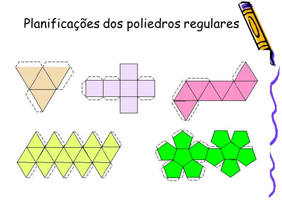 Planificações dos poliedros regulares