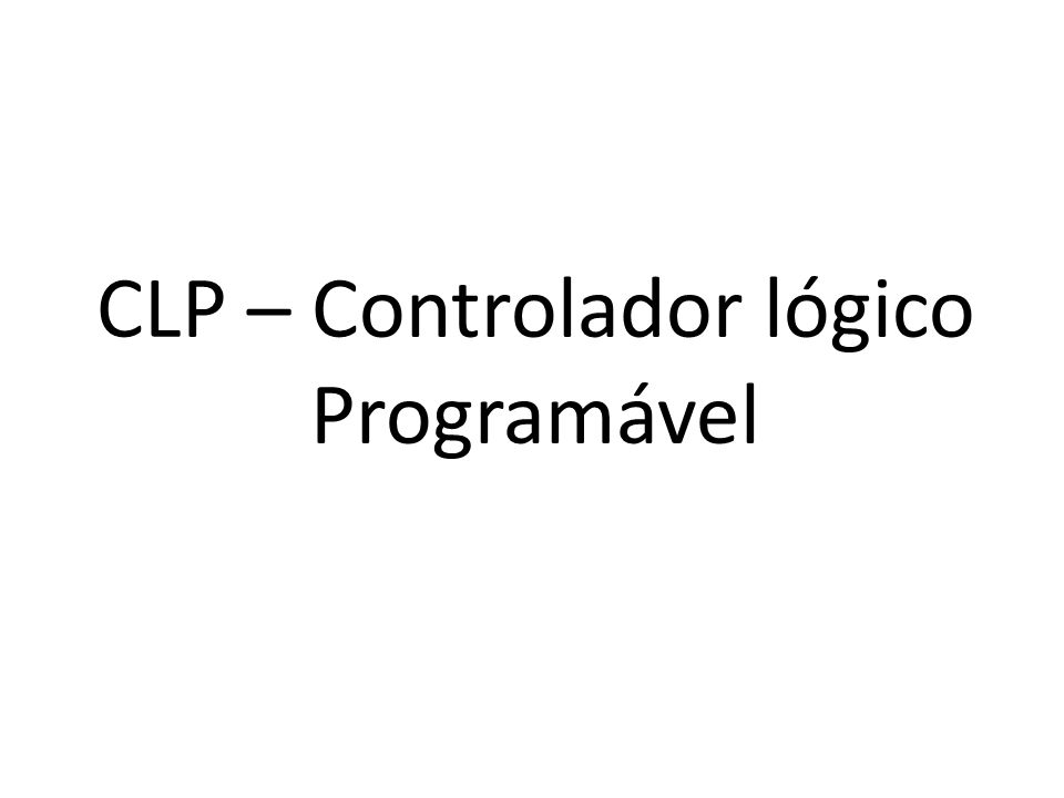 Elementos básicos de uma programação Ladder Não se deve esquecer de ligar as botoeiras e contatores, que são os elementos de comando, externamente ao CLP.