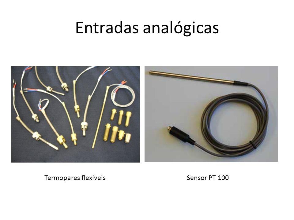 Entradas analógicas Termopares flexíveisSensor PT 100