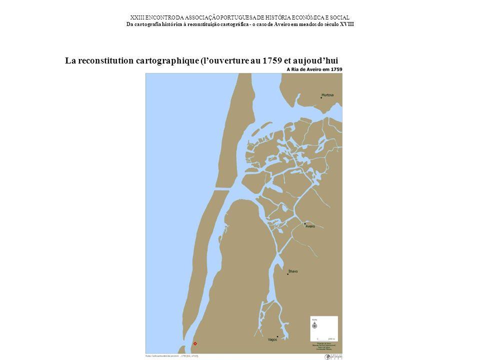 XXIII ENCONTRO DA ASSOCIAÇÃO PORTUGUESA DE HISTÓRIA ECONÓMICA E SOCIAL Da cartografia histórica à reconstituição cartográfica - o caso de Aveiro em me