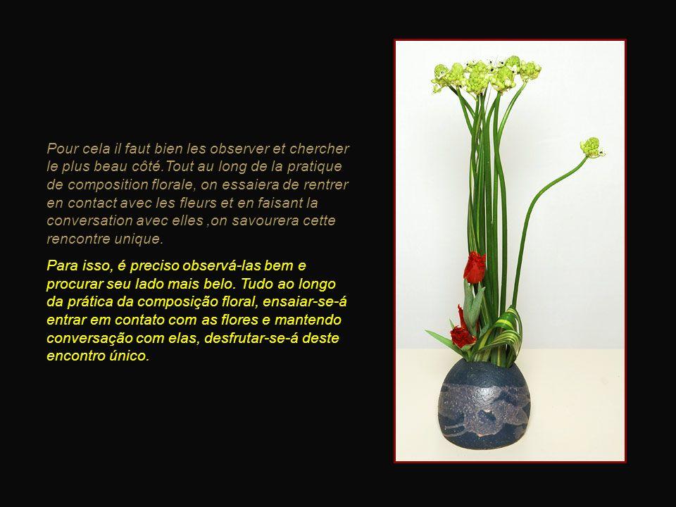 L'Ikebana c'est d'abord savoir regarder les plantes, les rencontrer pour de belles compositions. O Ikebana é primeiro saber olhar as plantas, encontrá