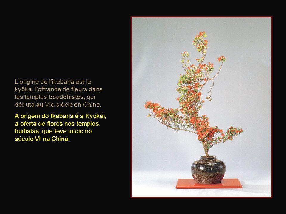 La structure complète de l'arrangement floral japonais est axée sur trois points principaux symbolisant le ciel, la terre et lhumanité. A estrutura do