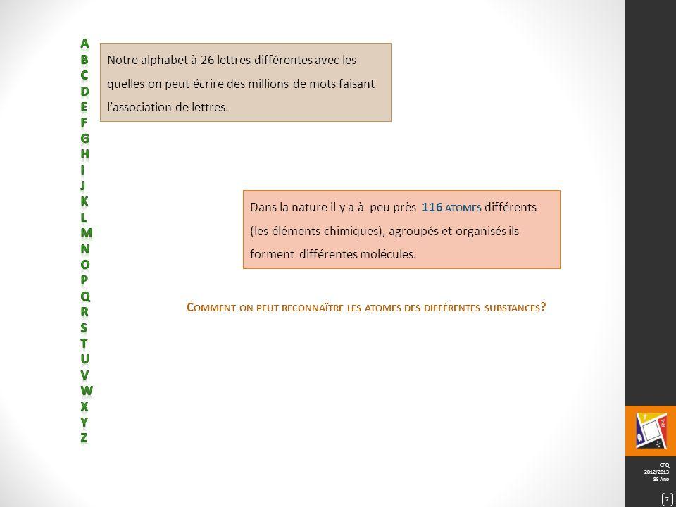 CFQ 2012/2013 8º Ano 8
