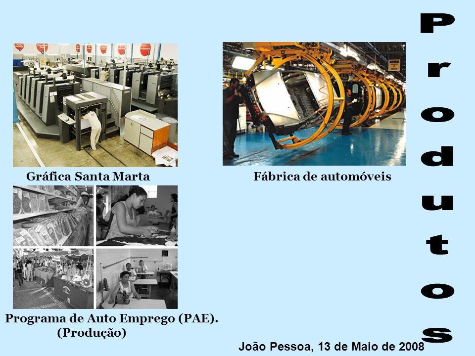 Gráfica Santa Marta Programa de Auto Emprego (PAE). (Produção) Fábrica de automóveis João Pessoa, 13 de Maio de 2008