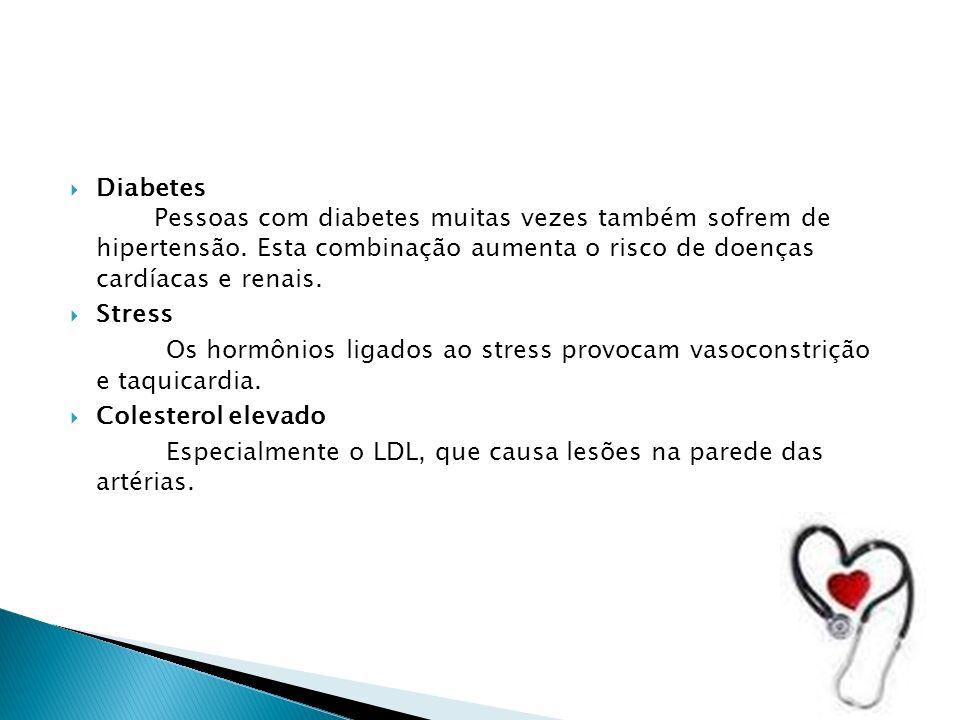Diabetes Pessoas com diabetes muitas vezes também sofrem de hipertensão.