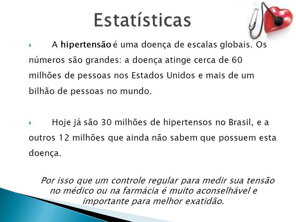 A hipertensão é uma doença de escalas globais.