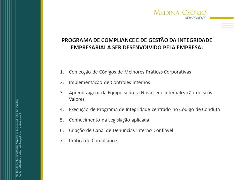 PROGRAMA DE COMPLIANCE E DE GESTÃO DA INTEGRIDADE EMPRESARIAL A SER DESENVOLVIDO PELA EMPRESA: 1.Confecção de Códigos de Melhores Práticas Corporativa