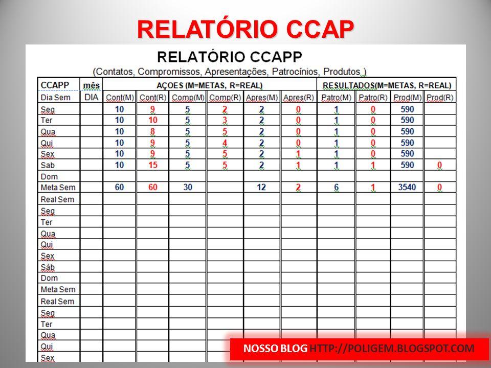 RELATÓRIO CCAP NOSSO BLOG HTTP://POLIGEM.BLOGSPOT.COM