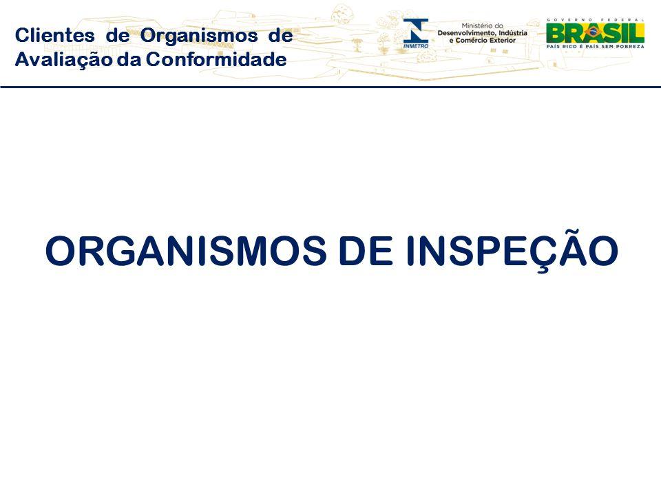 Clientes de Organismos de Avaliação da Conformidade ORGANISMOS DE INSPEÇÃO