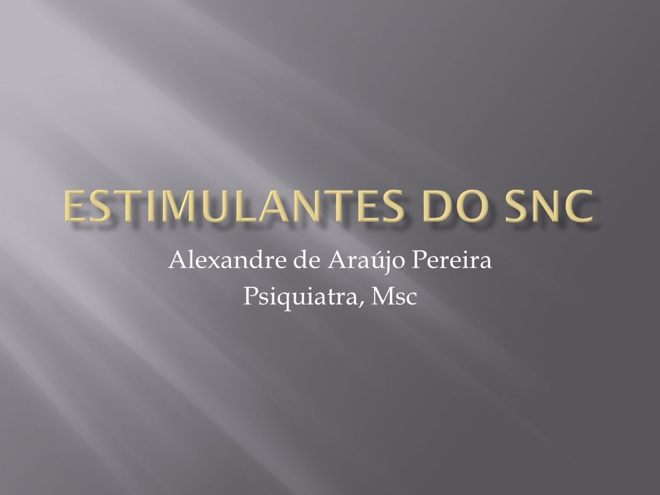 Alexandre de Araújo Pereira Psiquiatra, Msc