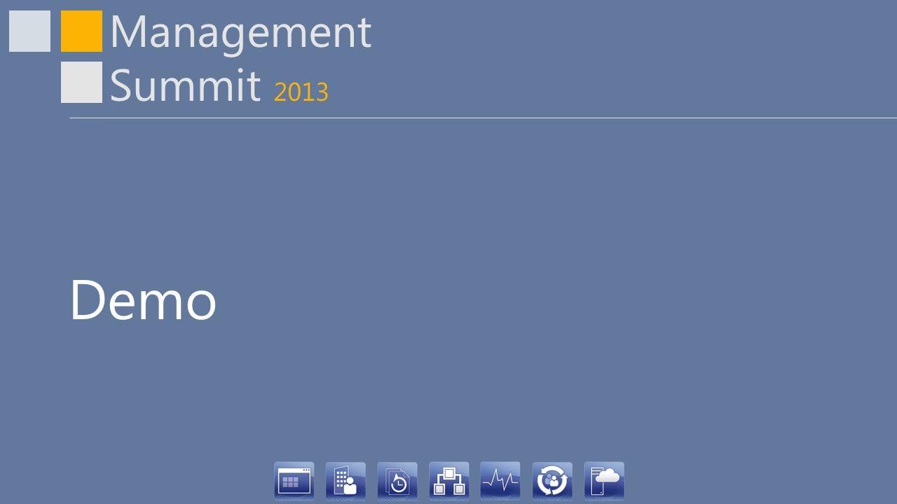 Management Summit 2013 Demo