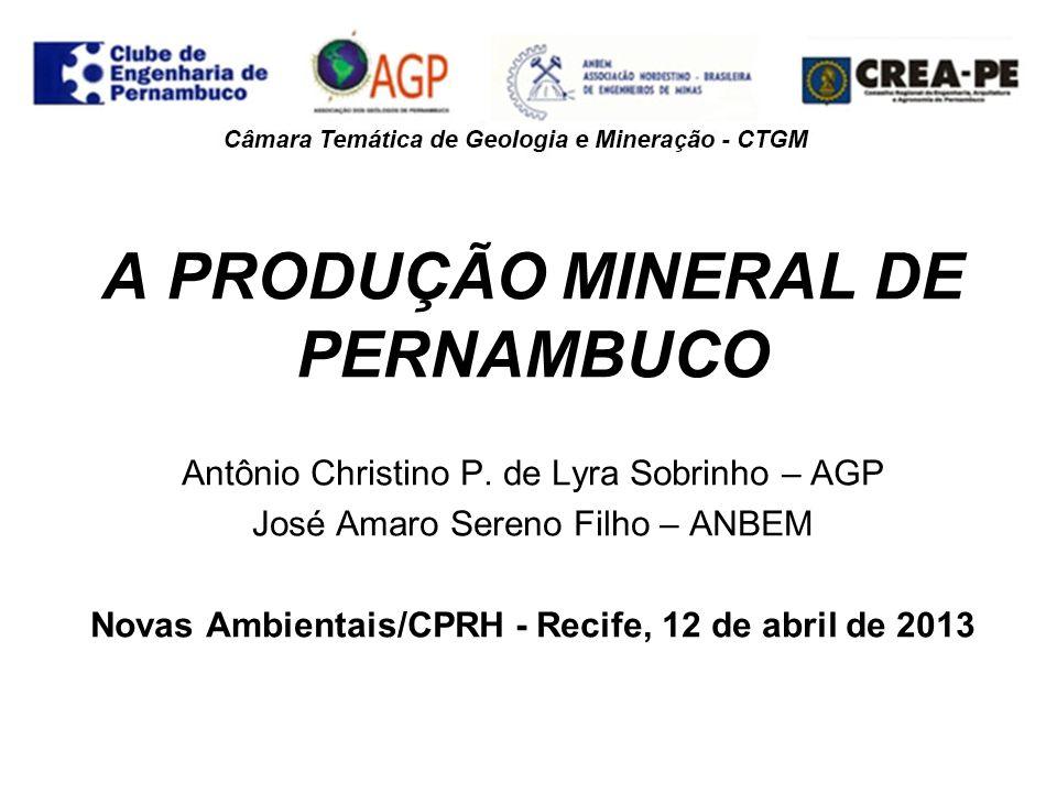 SUPERINTENDÊNCIA DO DNPM-PE Processos em tramitação (Fev/2013) = 3.116 Fase do Direito MinerárioQuant.
