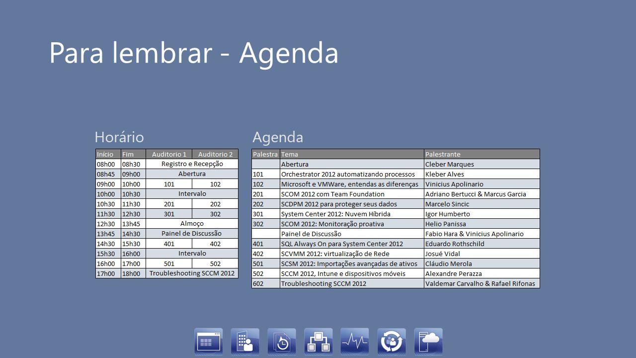Para lembrar - Agenda