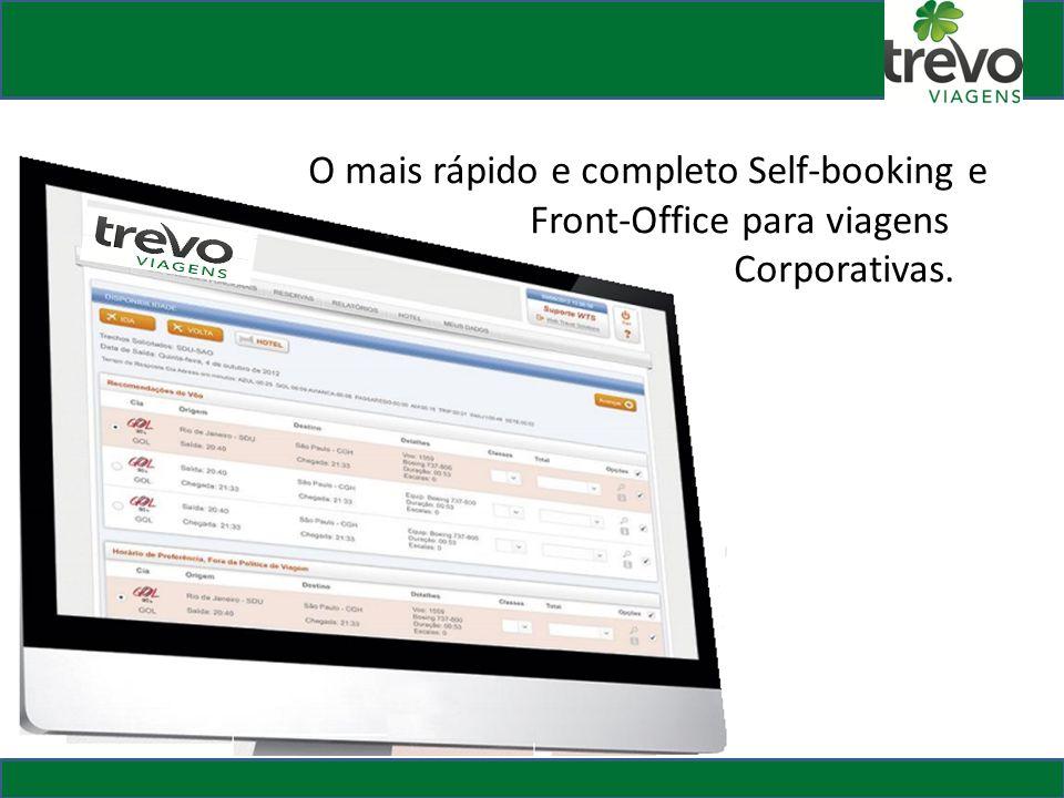 O mais rápido e completo Self-booking e Front-Office para viagens Corporativas.