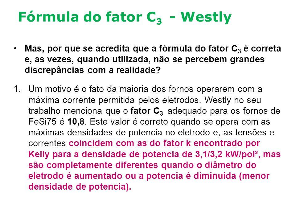 Fórmula do fator C 3 - Westly Mas, por que se acredita que a fórmula do fator C 3 é correta e, as vezes, quando utilizada, não se percebem grandes dis