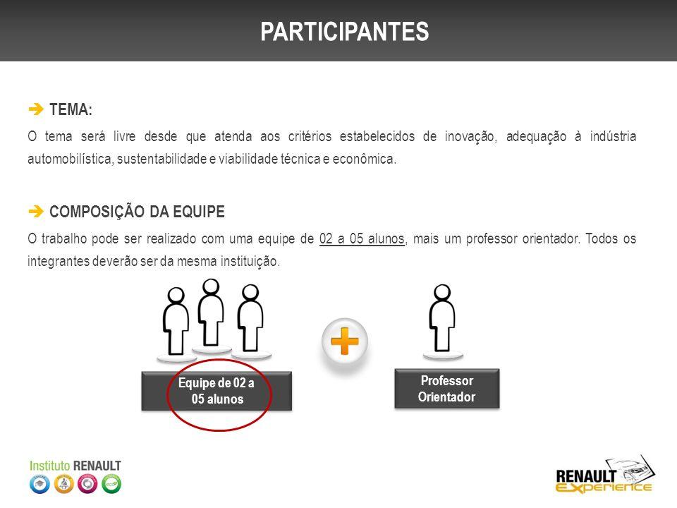 O Concurso Renault Experience conta com uma etapa preliminar, sendo realizada pelas Universidades e uma etapa nacional com os projetos selecionados, sendo realizada pela Renault do Brasil.