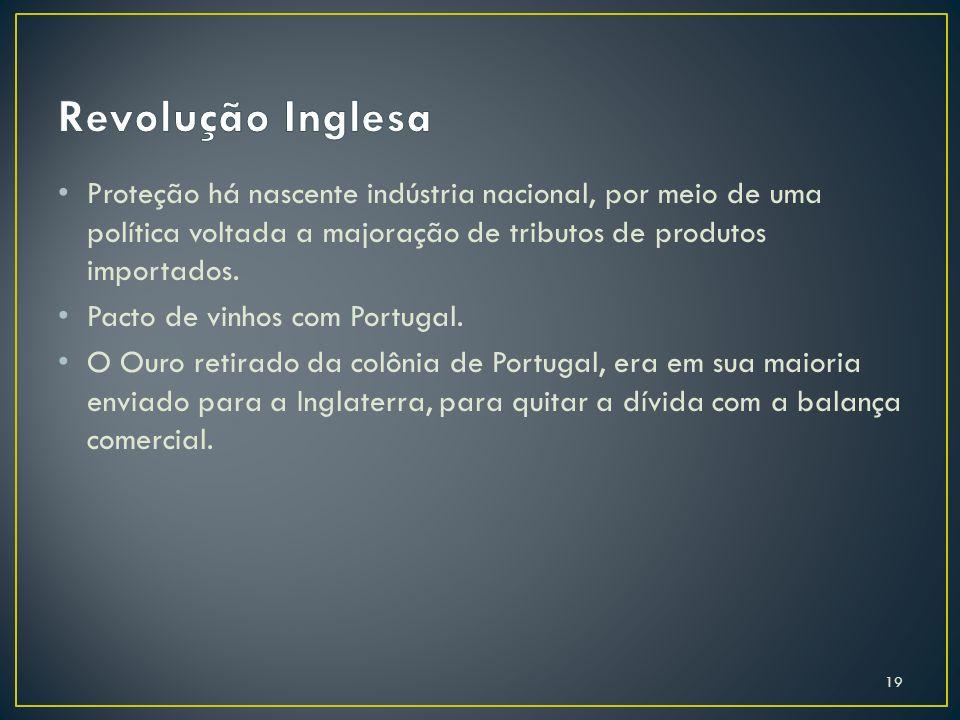 Proteção há nascente indústria nacional, por meio de uma política voltada a majoração de tributos de produtos importados. Pacto de vinhos com Portugal