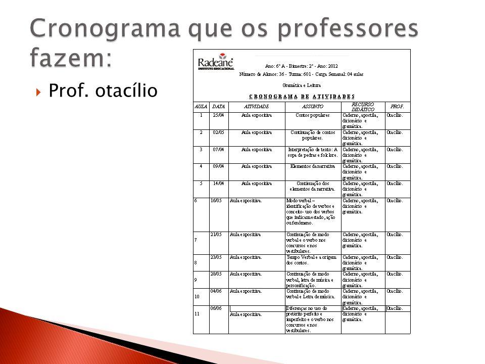Prof. otacílio
