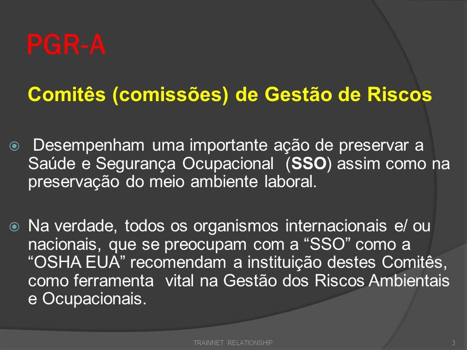 PGR-A Comitês (comissões) de Gestão de Riscos Desempenham uma importante ação de preservar a Saúde e Segurança Ocupacional (SSO) assim como na preserv