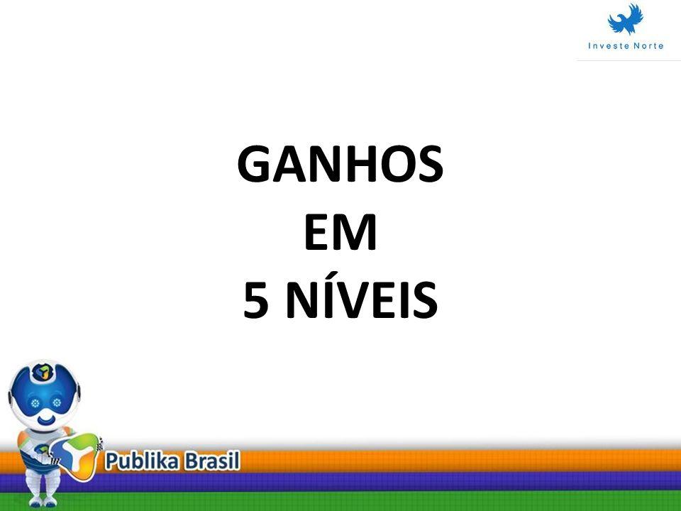 GANHOS EM 5 NÍVEIS