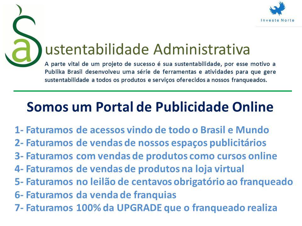ustentabilidade Administrativa A parte vital de um projeto de sucesso é sua sustentabilidade, por esse motivo a Publika Brasil desenvolveu uma série d