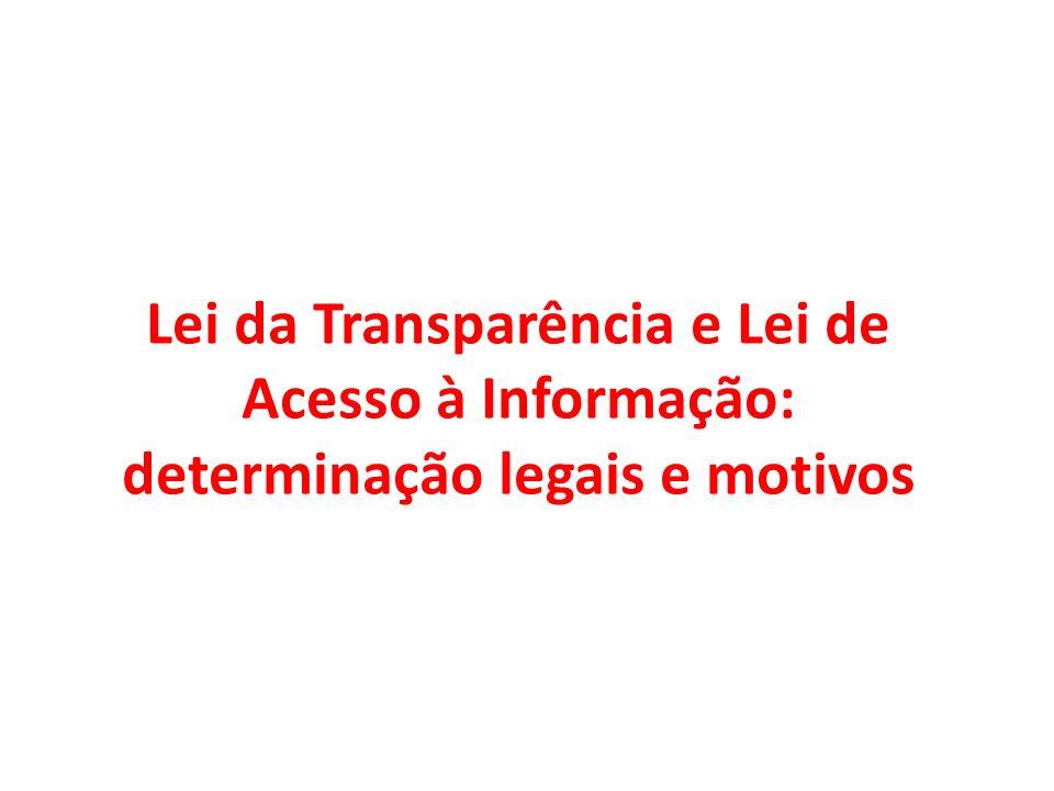 LAI e novos paradigmas legais para o CTN TÍTULO IV - Administração Tributária - CAPÍTULO I - Fiscalização Art.