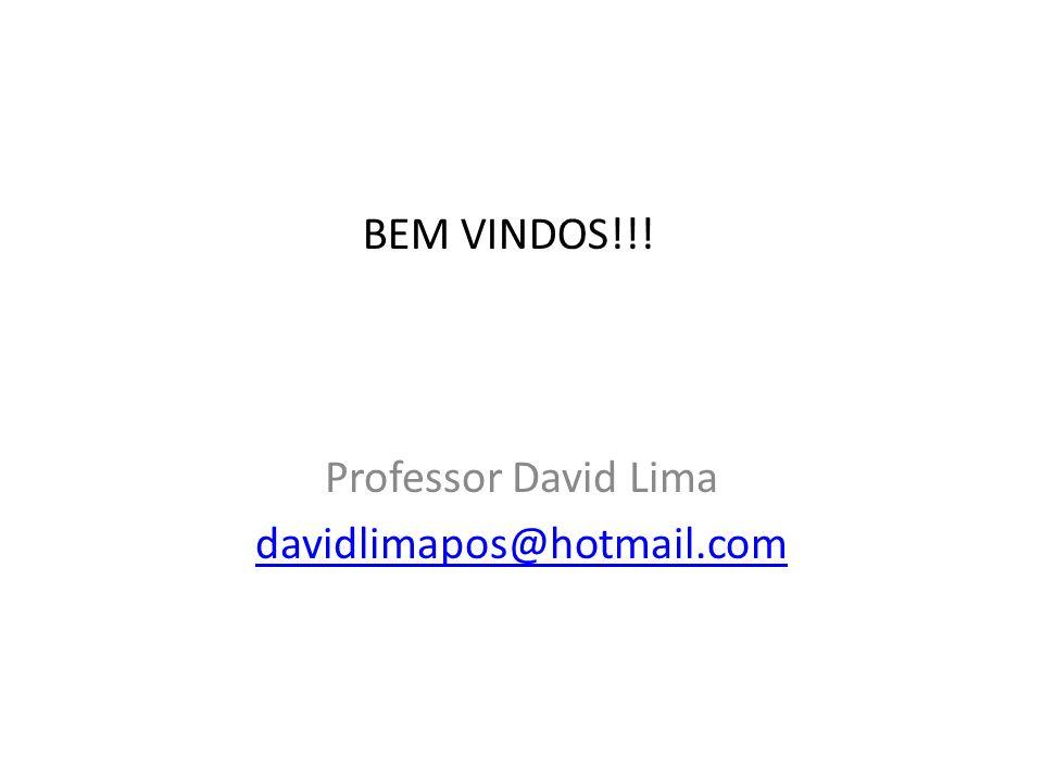 BEM VINDOS!!! Professor David Lima davidlimapos@hotmail.com
