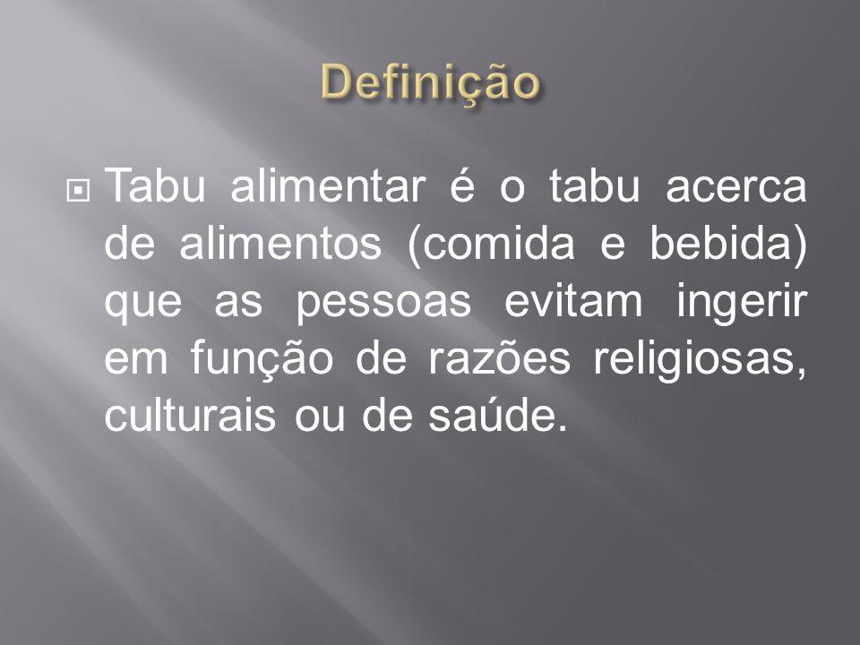 Tabu alimentar é o tabu acerca de alimentos (comida e bebida) que as pessoas evitam ingerir em função de razões religiosas, culturais ou de saúde.