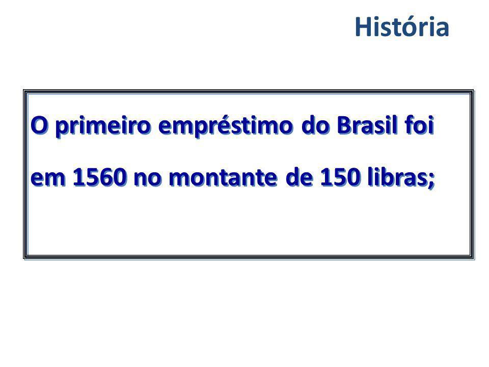 O primeiro empréstimo do Brasil foi em 1560 no montante de 150 libras; História