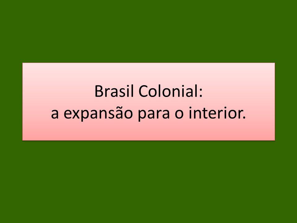 Brasil Colonial: a expansão para o interior.