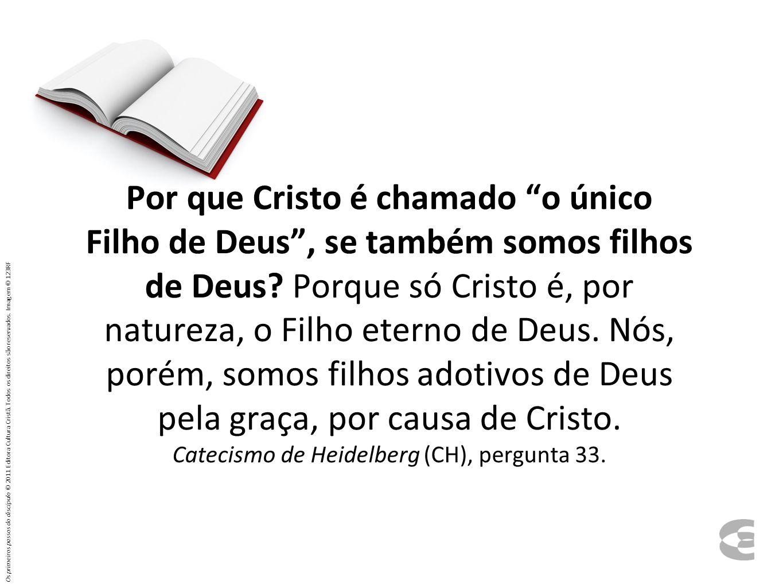 Por que Cristo é chamado o único Filho de Deus, se também somos filhos de Deus? Porque só Cristo é, por natureza, o Filho eterno de Deus. Nós, porém,