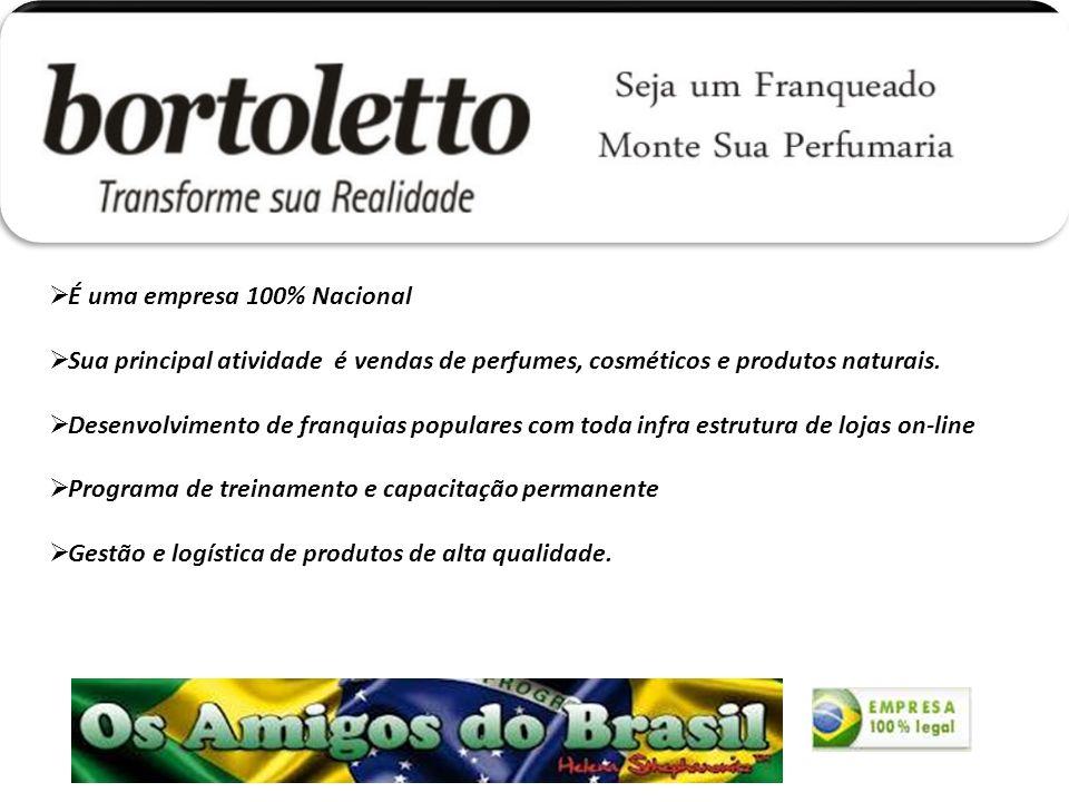 É uma empresa 100% Nacional Sua principal atividade é vendas de perfumes, cosméticos e produtos naturais.