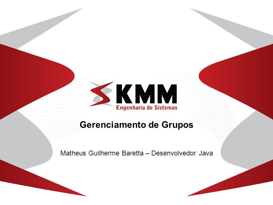 Gerenciamento de Grupos Matheus Guilherme Baretta – Desenvolvedor Java