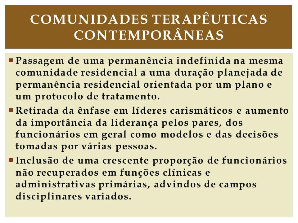 Passagem de uma permanência indefinida na mesma comunidade residencial a uma duração planejada de permanência residencial orientada por um plano e um