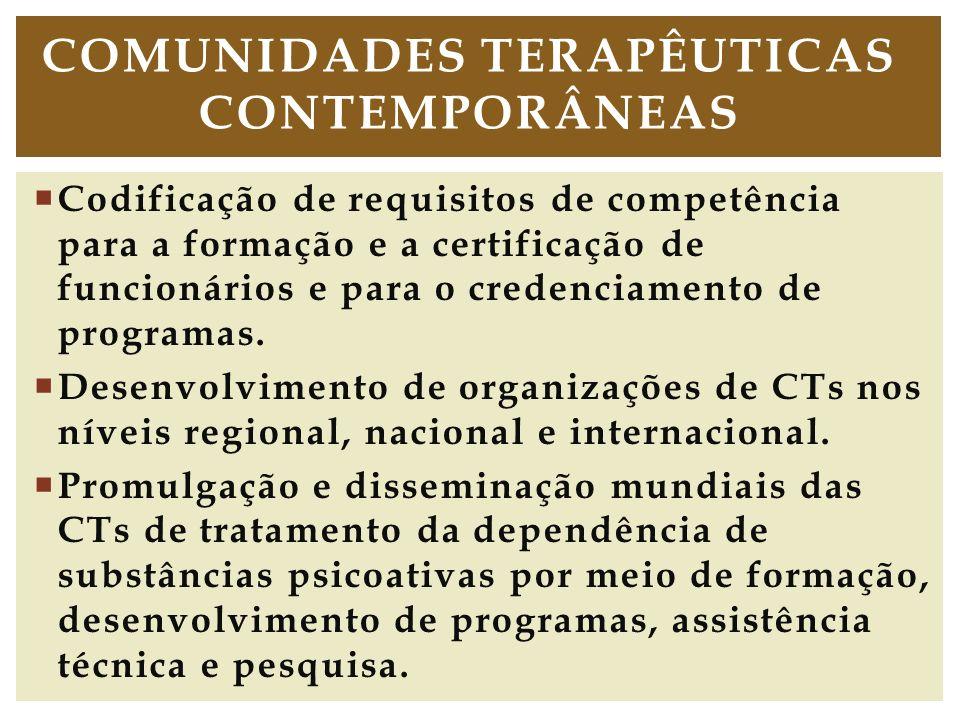 Codificação de requisitos de competência para a formação e a certificação de funcionários e para o credenciamento de programas. Desenvolvimento de org