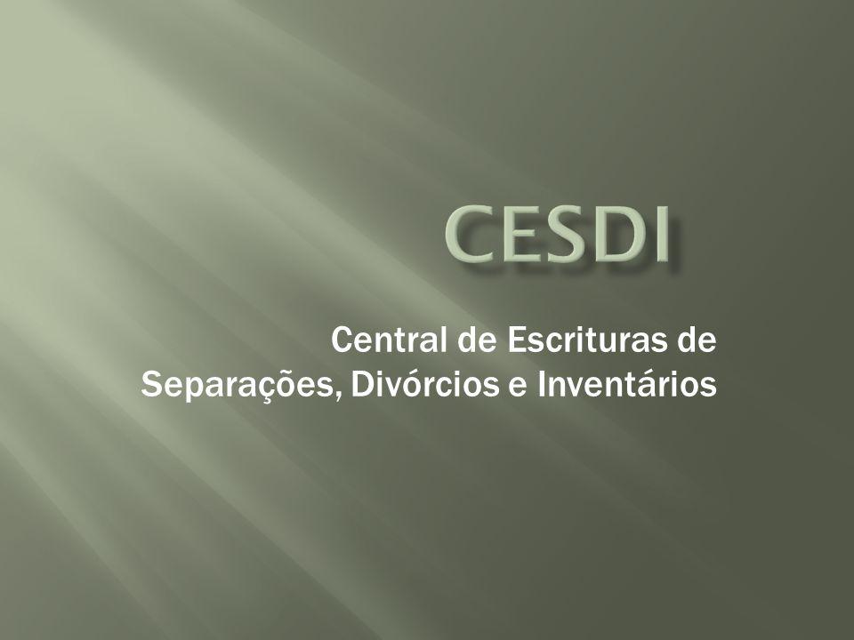 Central de Escrituras de Separações, Divórcios e Inventários