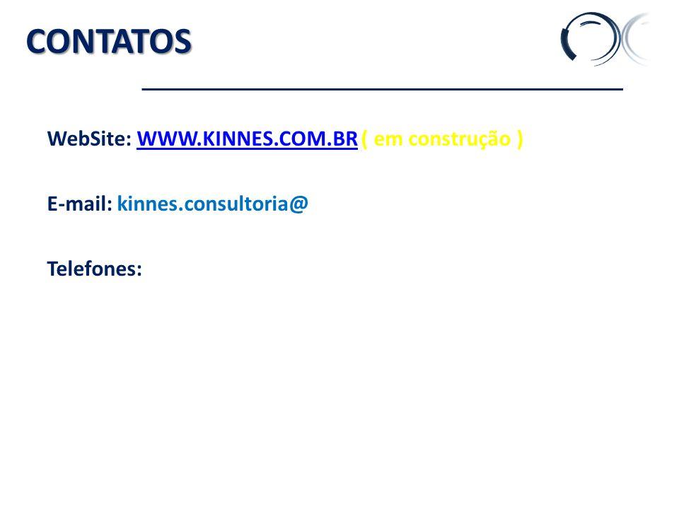 CONTATOS WebSite: WWW.KINNES.COM.BR ( em construção )WWW.KINNES.COM.BR E-mail: kinnes.consultoria@ Telefones: