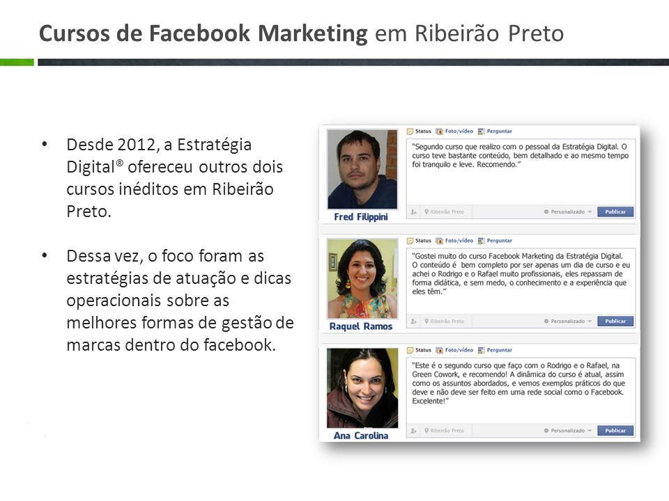 Desde 2012, a Estratégia Digital® ofereceu outros dois cursos inéditos em Ribeirão Preto. Dessa vez, o foco foram as estratégias de atuação e dicas op